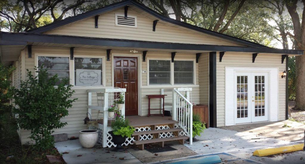 Cottage Spa and Salon front entrance